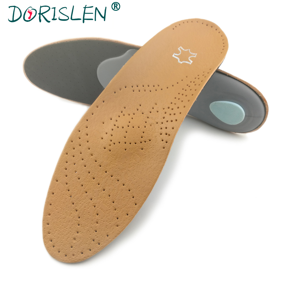 DORISLEN Leather Arch Supports Orthotics Insoles For Flat Feet 50pairs/Lot 50pairs lot emergency supplies ecg defibrillation electrode patch prompt aed defibrillator trainer accessories not for clinical