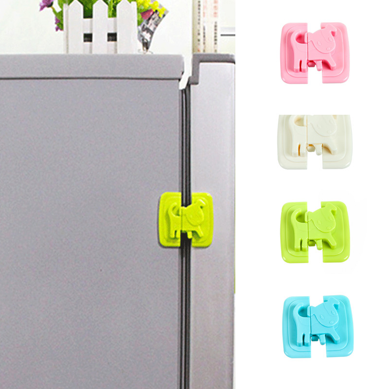2pcs Baby Safety Cartoon Shape Kids Baby Care Safety Security Cabinet Locks & Straps Products For Fridge Door Cabinet Locks
