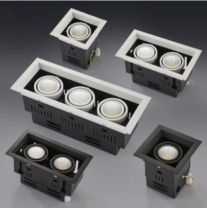 1 piezas blanco superficie de alta calidad montada ajuste LED COB dimmable Downlights ac85-265V 10 W 20 W 30 W LED luz del punto de la lámpara del techo