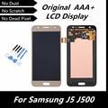 100% LCD de la Original para Samsung Galaxy J5 J500 LCD táctil digitalizador asamblea de pantalla del reemplazo de Color dorado piezas con herramientas