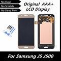 100% original lcd para samsung galaxy j5 j500 display lcd touch screen digitador assembléia peças de reposição com ferramentas da cor do ouro