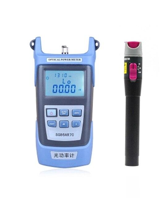 Handheld Optical Power Meter detector de falha visual Red Fiber Optic Laser Cable Tester (10-12 km) 1 set/lote