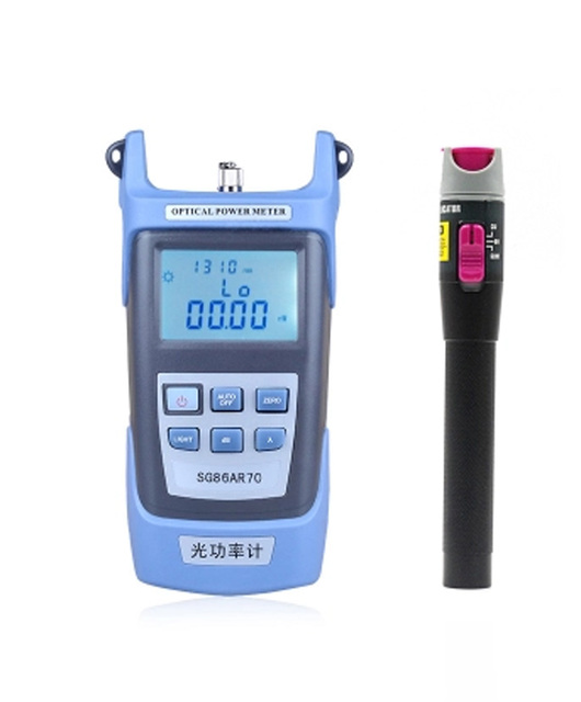 Handheld Optical Power Meter visual fault detector  Red Laser Fiber Optic Cable Tester (10-12km) 1set/lot