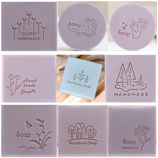 Tree Or Flower Pattern Handmade Soap Stamp  Clear Diy Natural Acrylic Organic Decorative Soap Making Custom Printing