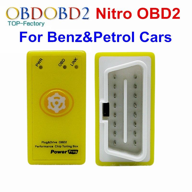 Nitroobd2 для бензина Автомобили чип тюнинг коробка Nitro OBD подключи и Драйв Nitro OBD2 инструмент более Мощность и крутящий момент мощность PROG