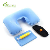 New U Shape Neck Rest Air Inflatable Pillow Travel Plane Train Convenient Portable Outdoor Camping Inflatable