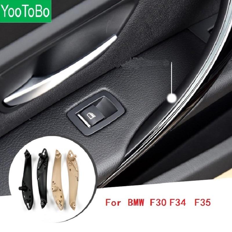 Beige Black Cream Front Rear Left/Right Car Interior  Door Handles  Covers ABS Plastic For BMW F30 F80 F31 F32 F33 F35 2012-2017