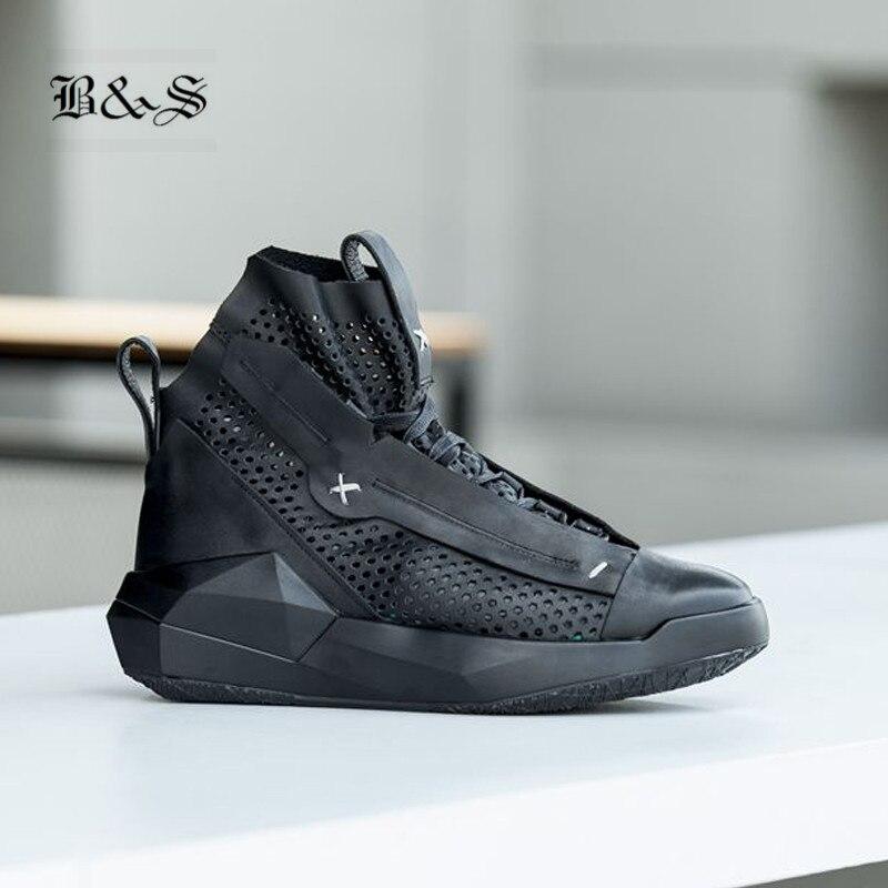 Negro Plataforma Calle Hueco Zapatos Personalizar Cuero Transpirable Estilo Beige De Verano Roma negro Gladiador Genuino Entrenador Y rAPq5r