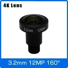 4K Lens 12Megapixel Fixed M12 Lens 3 2mm 160 Degree 1 1 7 inch For IMX226