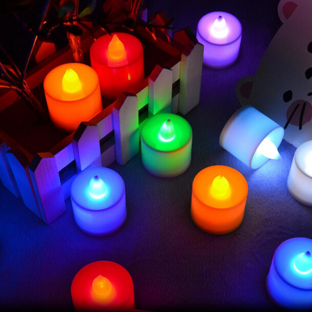 CHICLITS LED Candle Light Colorful Holiday Lamp Button Battery Power Christmas New Year Home Wedding Decoration Led Night Light