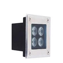 4 Вт наземные светильники плинтусы фонари лестницы огни квадратные похороненные лампы IP68 открытый светодиодная лампочка для осещения подножки