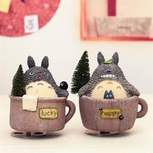 My Neighbour Lucky Totoro Rotating Castle In The Sky Music Box Classical Happy Totoro Figurine Artware Birthday Gift