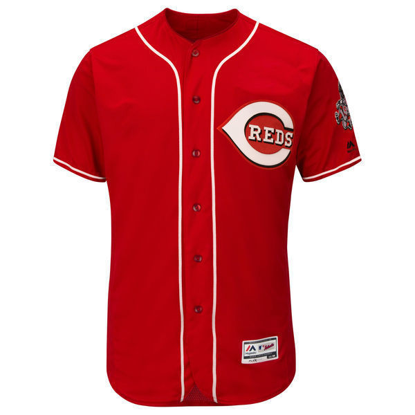 MLB Mens Cincinnati Reds Baseball Alternate Scarlet Flex Base Authentic Collection Team Jersey