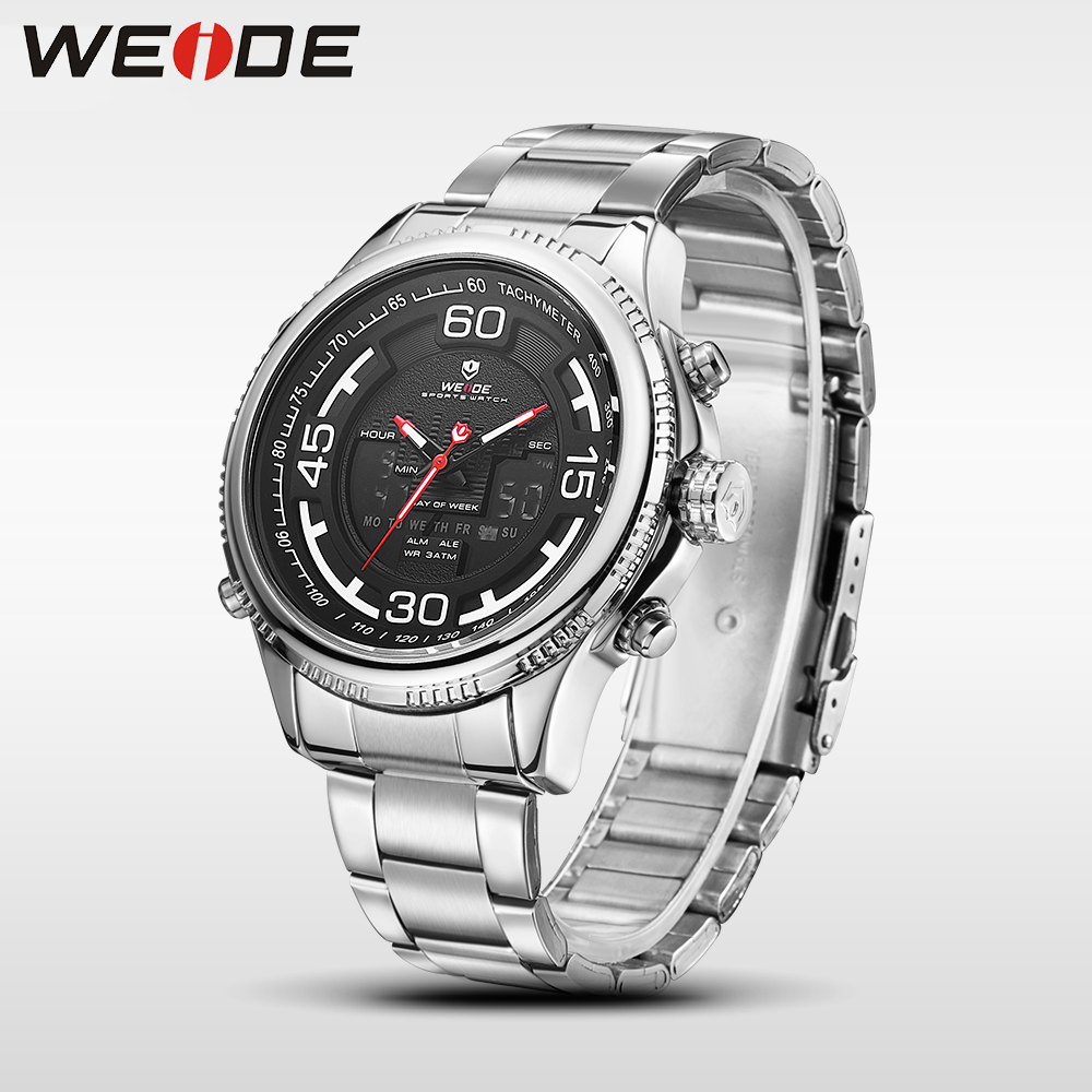 WEIDE genuine sport men watch stainless steelin quartz watches water resistant analog automatic watch clock business men watches weide brand watches business for men analog digital watches wristwatches 3atm water resistance steel clock black dial wh3403 page 7