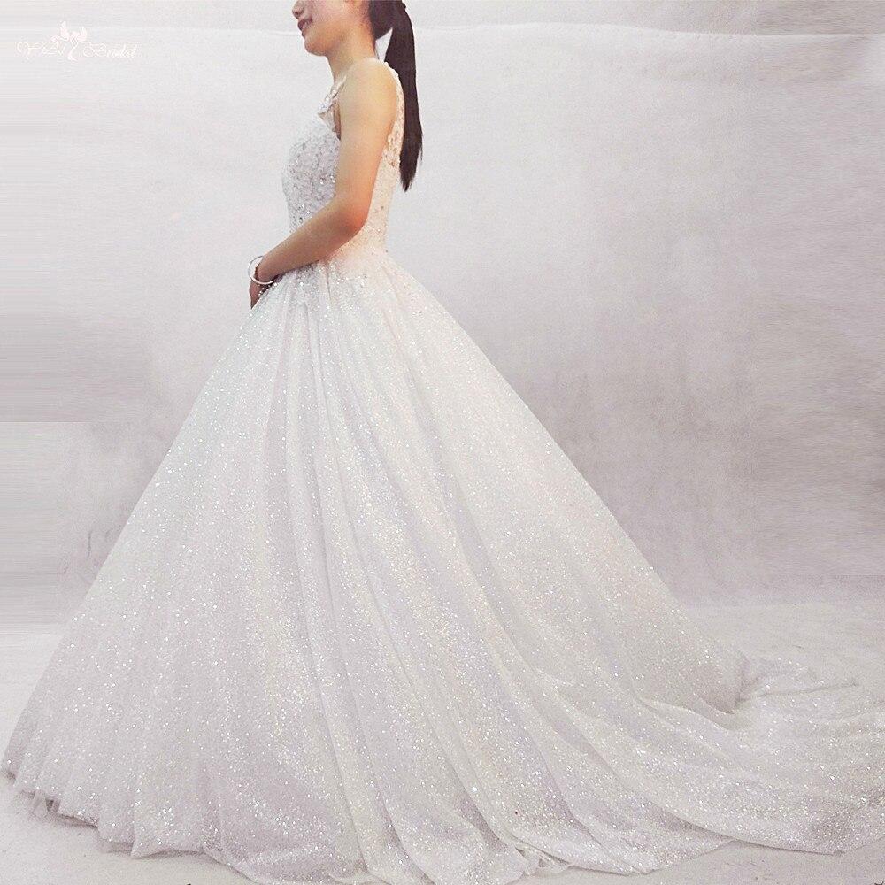 RSW404 Off White Искра Блеск свадебное платье 2018