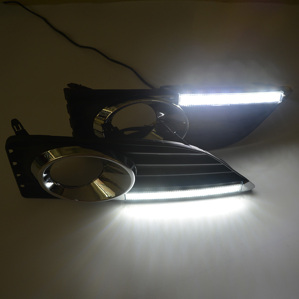 Ecahayaku Daytime Running Light Fog High Quality Led Drl Car Wiring A Fixture With Red Black And White Wires About Shipping