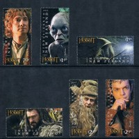 NE0259 New Zealand 2012 American Blockbuster Movie The Hobbit 6 New Stamps 0111