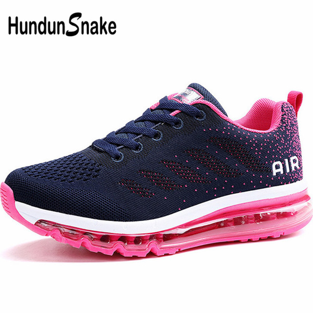 8dbabb65c385 Hundunsnake Summer Running Shoes For Women Air Cushion Women Sneakers Mesh  Gym Shoes Women Blue Chaussures Femme Sport Walk G-29