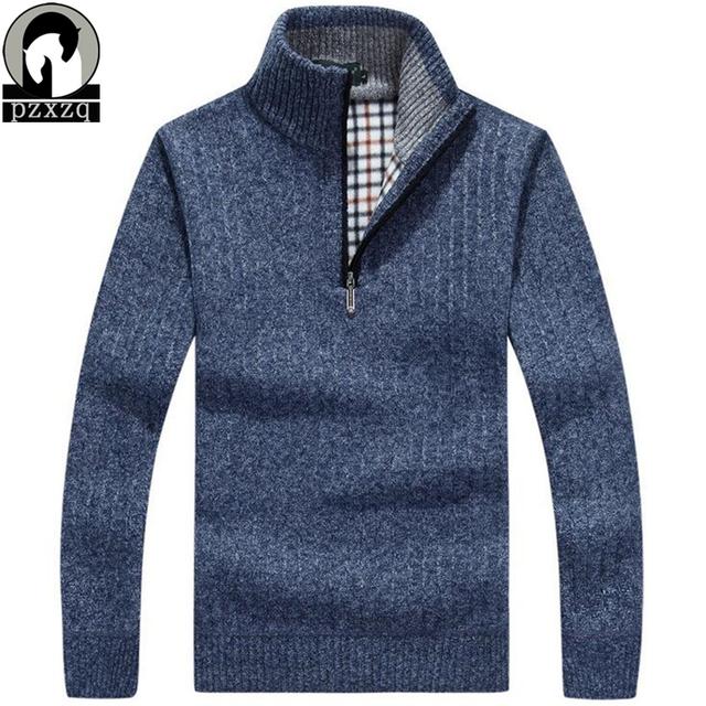 Nova moda mens malha blusas pulôver de manga Longa gola alta Malhas dos homens casaco casuais fino Manter agasalho quente dos homens clothin