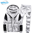 Winter Fleece Tracksuit Men 2017 Hoodie&Sweatshirt+Pants Moleton Masculino Sporting Suit Men Plus Size 5XL Hoodies Set