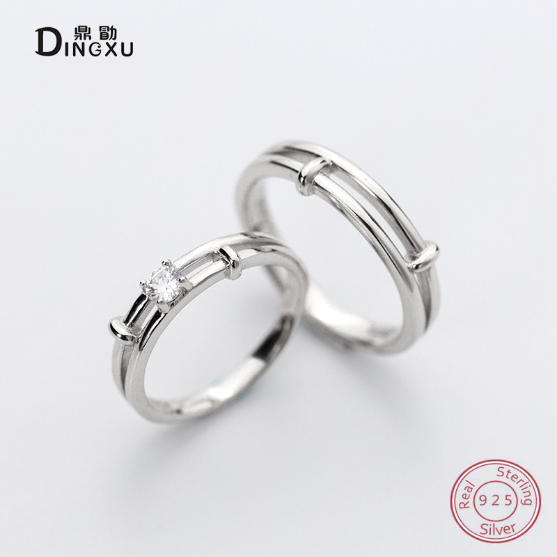 925 Sterling Silver Open Rings Double