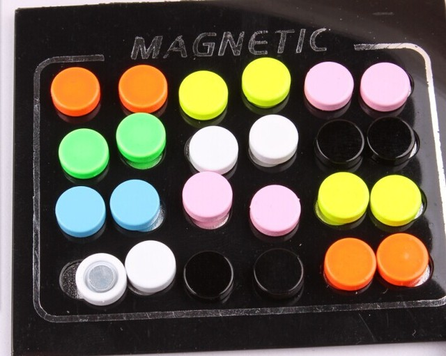 1 Pair Fashion Multi-Colored Non Piercing Clip On Magnetic Magnet Earring Stud Mens Womens Fake Earrings Drop Shipping 8mm