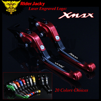 RiderJacky 1 Pair Red Black Red Motorcycle Folding Extendable Brake Clutch Levers For Yamaha XMAX 300