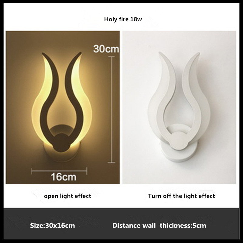 Modern Led Wall Lamp 18W Wall Sconces Indoor Stair Light Fixture Bedroom Bedside Living Room Home Hallway Wall Lamp fashion rustic iron bedroom bedside wall light fixture home deco living room e27 wall lamp european vintage glass wall sconces