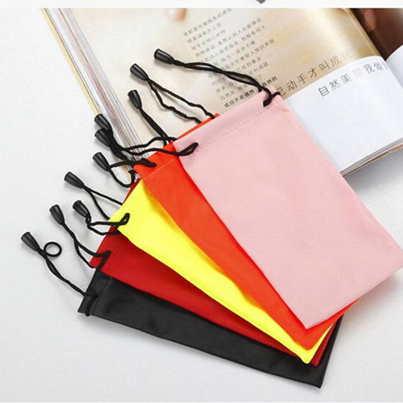 10 Pcs/lot DIY Watch Phone Glasses Case Soft Waterproof Cloth Sunglasses Bag Glasses Pouch Eyeglasses Cases Mixed Colors