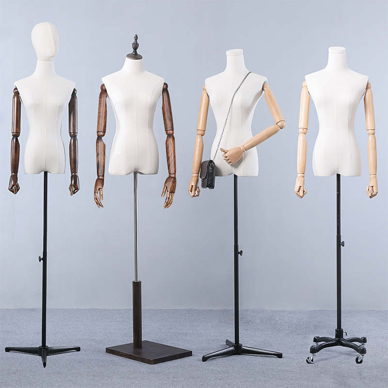 Best Quality Full Body Fiberglass Fabric Mannequin Dressmaking Model Hot Sale