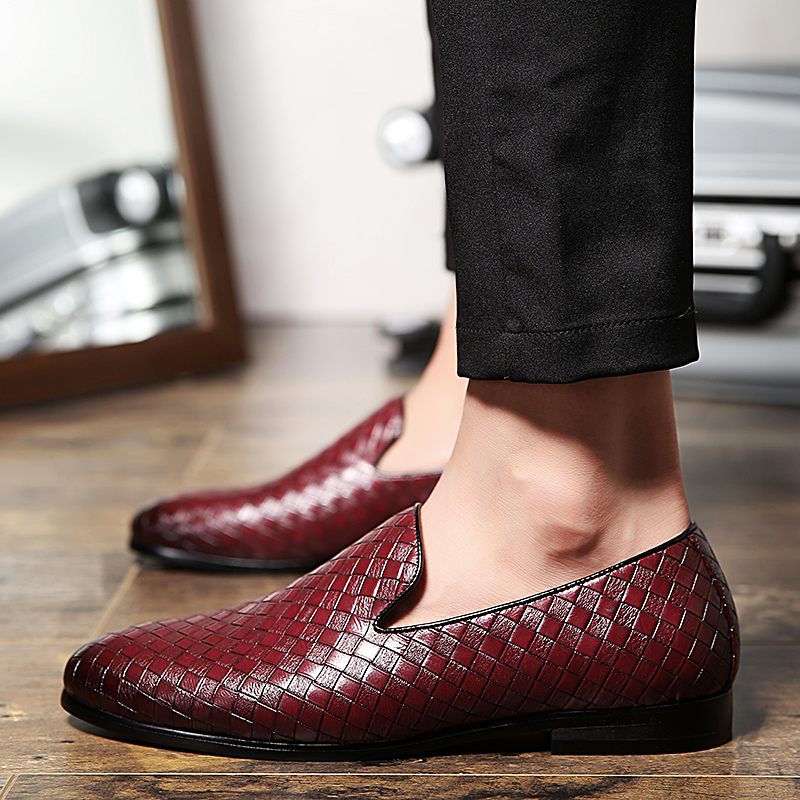 2019 fashion men 39 s shoes casual leather loafers male slip on shoe man yellow red black breathable driving shoes for men hot sale in Men 39 s Casual Shoes from Shoes