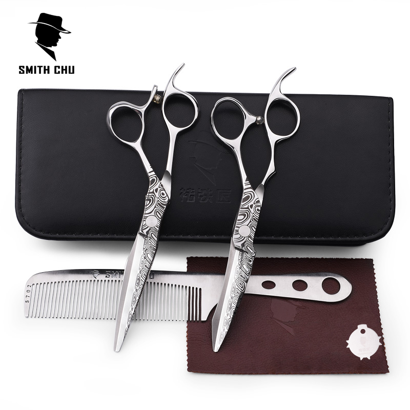 Smith Chu 6 pulgadas Damacus tijeras de peluquería 440C acero - Cuidado del cabello y estilo - foto 5