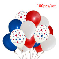 balloons 100Pcs 12 inch air balloon confetti latex the United States Independence Day National Day Decor party globos L26