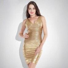 Lady and Women's Clothing Sexy V-Neck Glitter Satin Bandage + Silk Dresses Fashion Party Dresses Ukraine Plus Size dress female