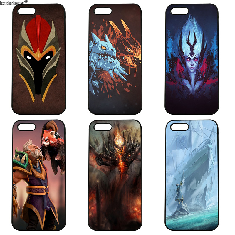 Hot Sale Dota 2 PC Case for iphone 8 7 6 6S Plus X 5S 5C 5 SE 4 4S iPod Touch 4 5 6 Shell Hard PC Anti-knock Mobile Phone Cases