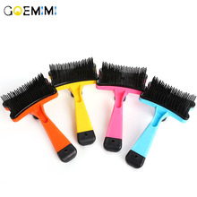 2019 Pet Dog Deshedding Removal Hair Comb For Cat Grooming Brush Tool Grooming Cats Comb Supplies pet hair deshedding dog cat brush comb sticky hair gloves hair fur cleaning for sofa bed clothe pets dogs cats cleaning tools