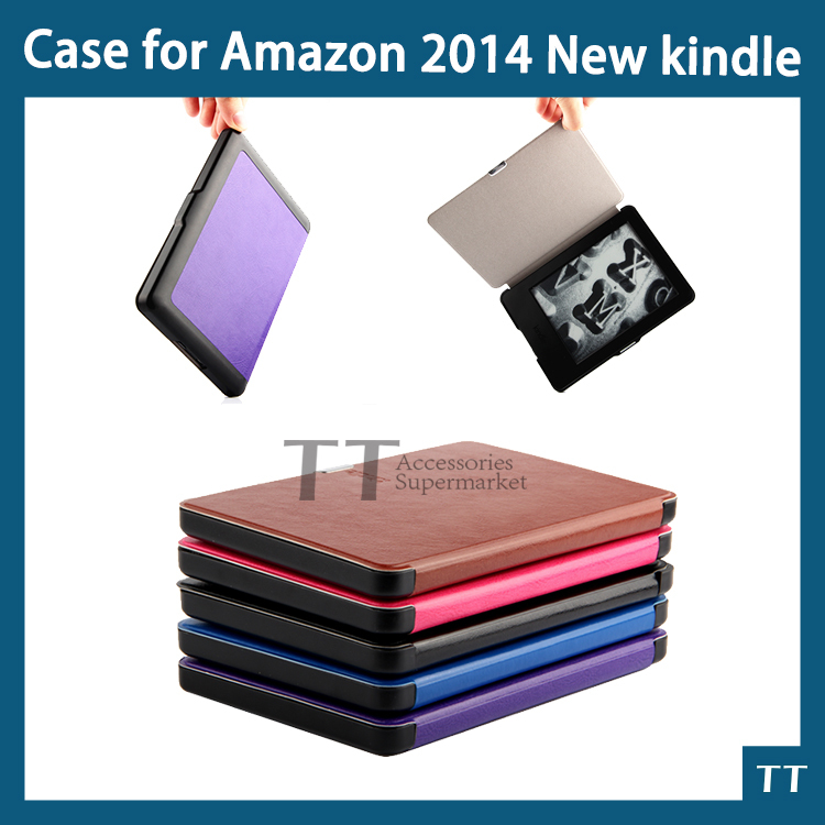 New Kindle 7th Generation leather Magnetic Sleep and wake up ultra slim cover smart case for Amazon 2014 New kindle+free 3 gifts pu leather ebook case for kindle paperwhite paper white 1 2 3 2015 ultra slim hard shell flip cover crazy horse lines wake sleep