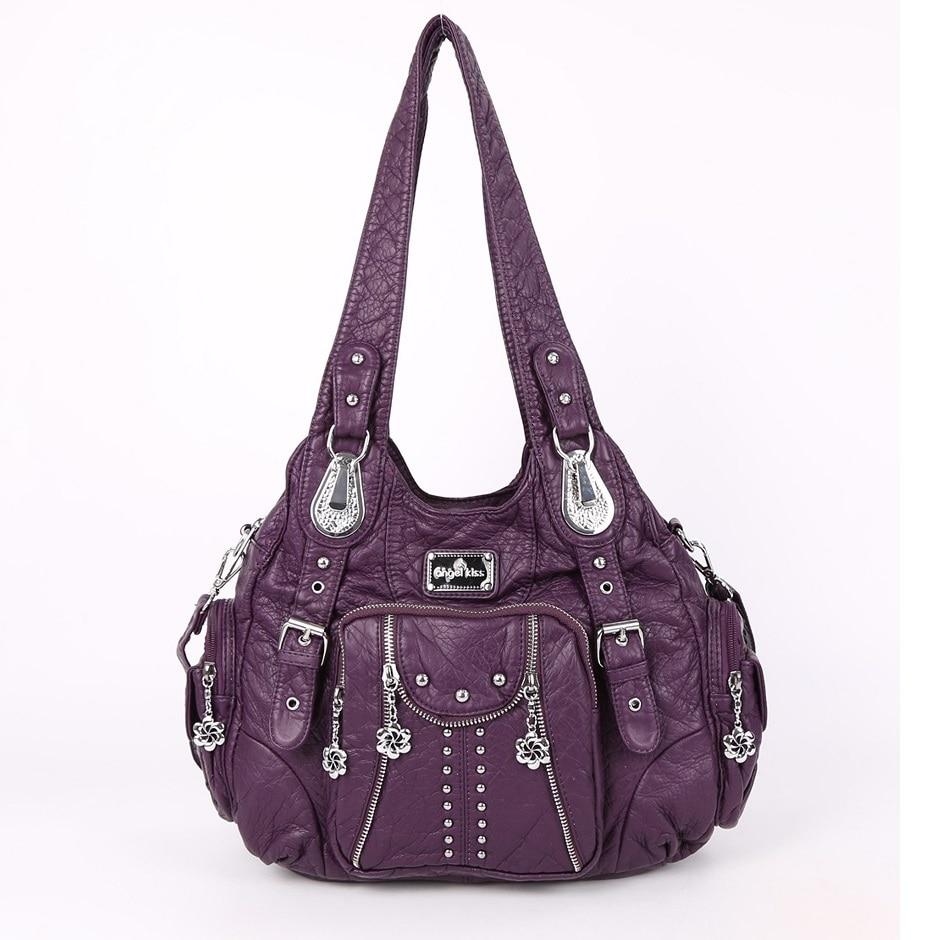 Women\'S Handbags Soft Shoulder Bag Sac A Main PU Leather 17X11top-Handle Handbag Female Satchel Large Hobo Bag
