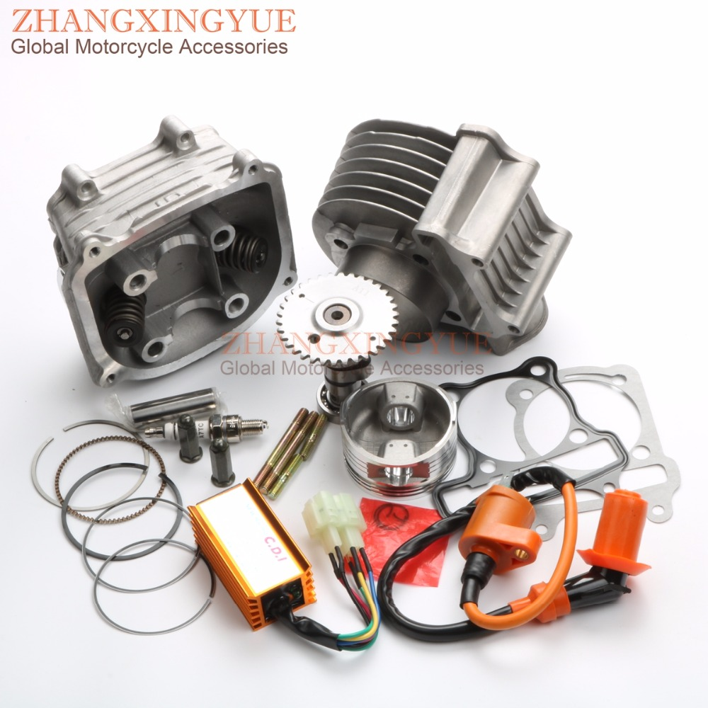 180cc Big Bore 61mm A11 Cam Racing CDI & Coil Cylinder Kit for GY6 150cc 157QMJ Chinese Scooter