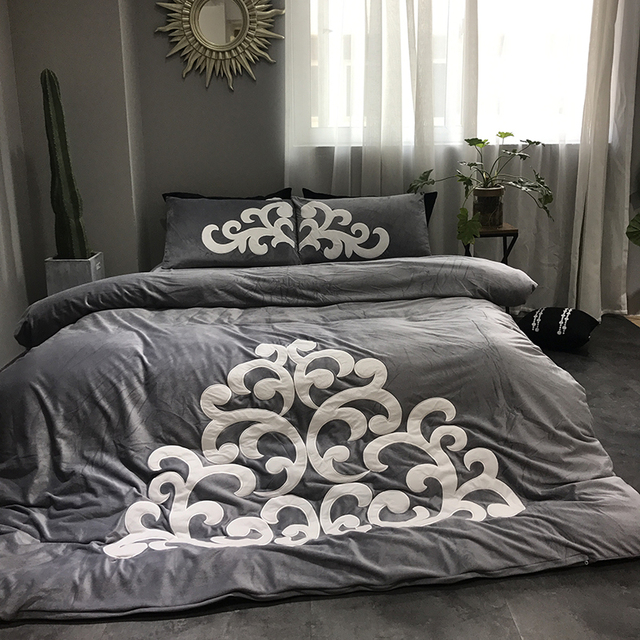 4 Stücke Baby Klasse Samt Flanell Klassische Bettwäsche Set Warme