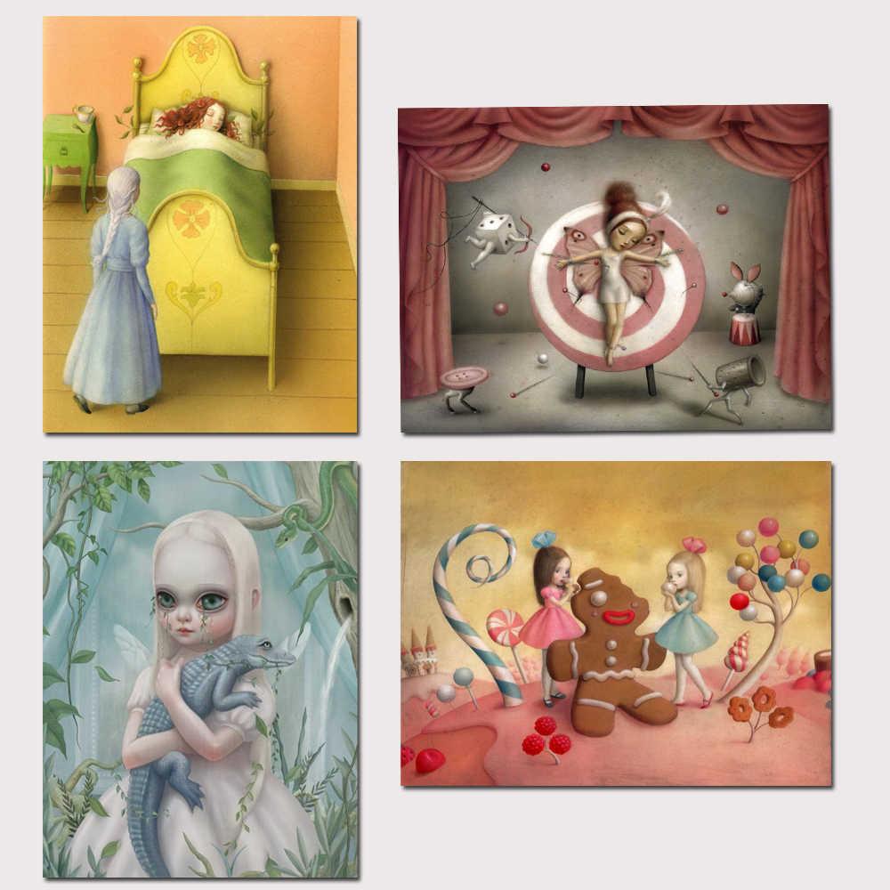 Mark Ryden Mark Ryde 1 Panel Dinding Abstrak Seni Minyak Lukisan Poster Kanvas Lukisan Cetak untuk Ruang Tamu Dekorasi Rumah 21