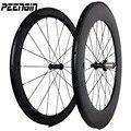 Углеродное Смешанное колесо 23 мм ширина 60 мм + 88 мм передние и задние колеса велосипеда 700C дорожные гонки с Shimaor campagg 8/9/10/11 скоростей кассеты