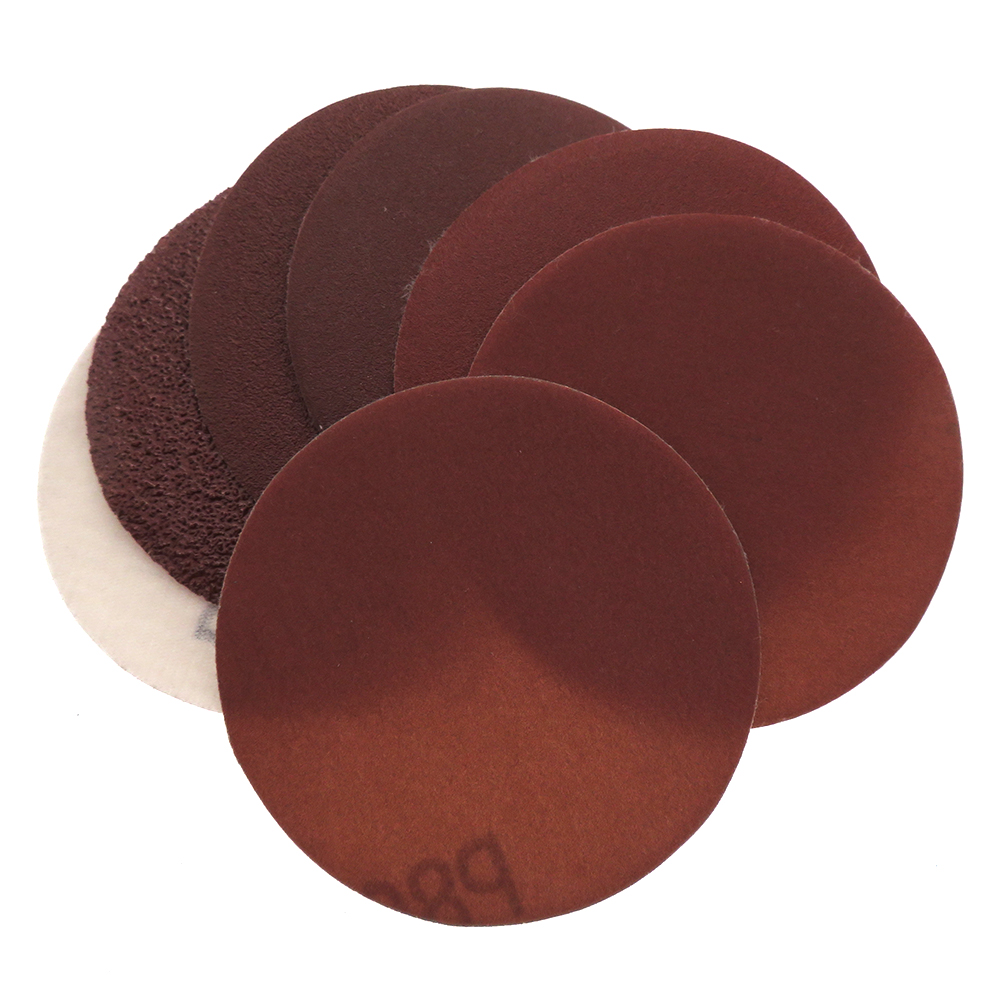 20PCS 3Inch <font><b>75MM</b></font> Aluminum Oxide Red Sandpaper Sanding <font><b>Discs</b></font> Hook and Loop 40 to 1000 Grits image