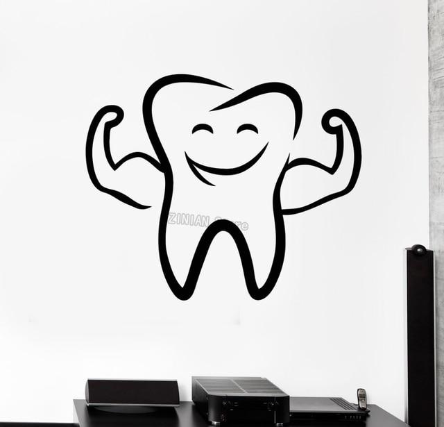 Diente divertido sonrisa etiqueta de la pared para el baño Decoración para  el hogar arte mural c92a8eca6c6d