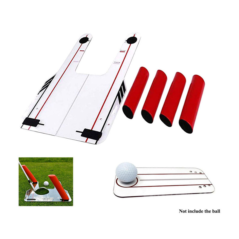 4 Red Speed Golf Rods Trainer Practice Mirror Base Shape Golf Mirror Carry Trap With Coach Speed Shots Bag Swing Swing