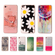 Fashion Cartoon Cute Soft Plastic Silicon Rubber Case For Lenovo S90 5 0 Printed Cartoon Flower