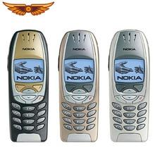 -Teléfono móvil Nokia 6310i Original desbloqueado, dispositivo con 3 bandas, 2G, GSM, soporte inglés, teclado clásico usado