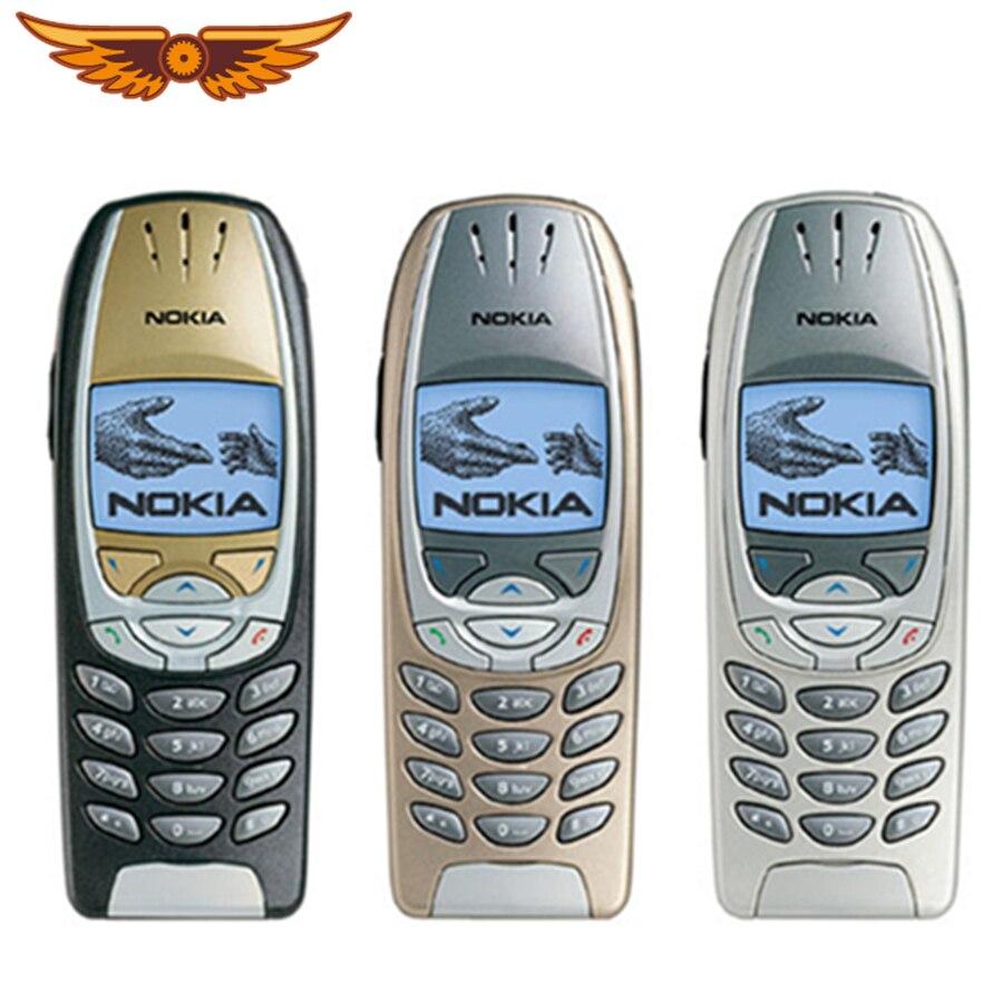 6310i original desbloqueado nokia 6310i tri band 2g gsm apoio teclado inglês clássico remodelado usado celular|Celulares|   -