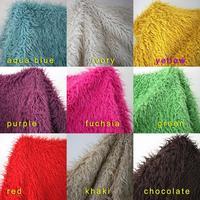 Mongolian Curly Sheep Faux Fur Fabric Newborn Baby Photography Props Faux Wool Basket Stuffer Blanket Rug Size 150*92cm