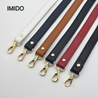 IMIDO New Long Strap for Bag Genuine Leather Women Bags replacement straps shoulder belt handbags accessories parts White STP059
